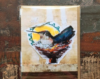 Hummingbird Sunrise Greeting Card