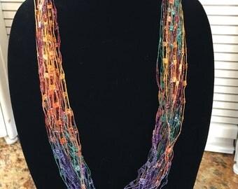 Trellis necklace/scarf