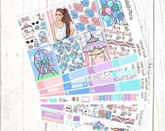 Carnival Crush | Funfair, Summer, Girl, Fashion, Candy, Planner Stickers