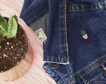 Succulent in Pink Planter Pin