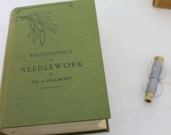 Vintage Encyclopedia Of Needlework Book & Original Box/Th. De Dillmont/Reference Book/Sewing/Knitting/Crochet/ Book/ Collectable  (002Z)