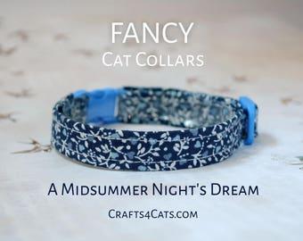 Kitten collar - Last Few! Fancy Floral Cat Collar - Kitten Collar with bell - Adjustable, breakaway safety collar for kitten & cat