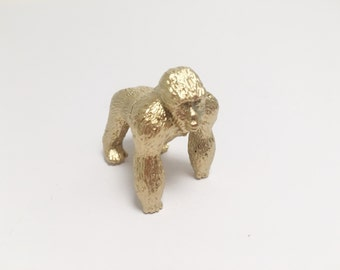 Gold Gorilla Place Card Holder