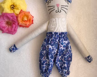 Handmade organic eco-friendly fabric soft doll toy