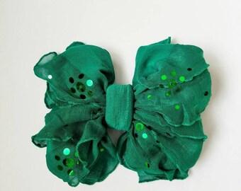Ruffle Mini Emerald