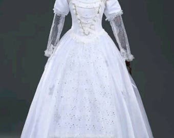 Alice in wonderland- the white Queen cosplay dress
