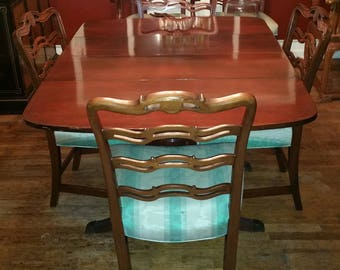 Exceptional Duncan Phyfe Dining Table And Six Chairs