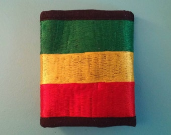 Rasta Wallet Embroided Ethiopian Colors