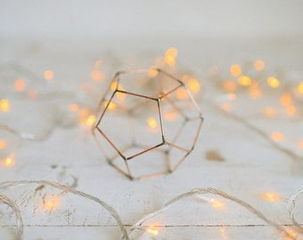 Wedding Candle holder - Copper wire - Copper wire decor - Wedding Copper wire decor - Candleholders - Geometric Copper wire - Candle holder