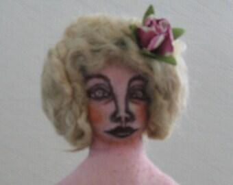 Cloth Art Doll, Sitter Doll, One of a Kind, Handmade Cloth Doll, Shabby chic, Primitive Folk Art