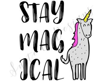 Stay Magical Unicorn Tanktop, V-neck, T-shirt