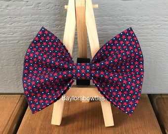 LAST DAY to order is June 19th  for guaranteed delivery*** Patriotic Dog Bow Tie