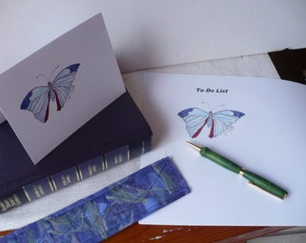 Gifts For Her, Butterfly To Do List, Writing Set, Notepad, Artwork, JW Gifts
