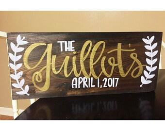 Personalized custom name wood sign laurel