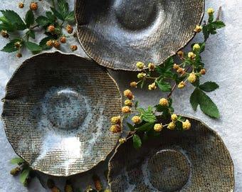 Blue Gray Linen Bowls