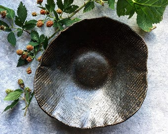 Charcoal Linen Bowl