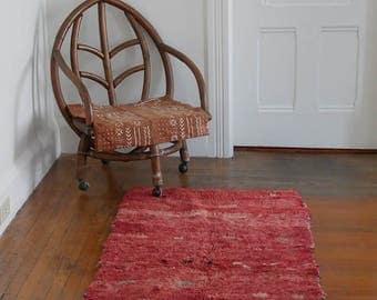 Vintage Coral Moroccan Runner Rug/Carpet