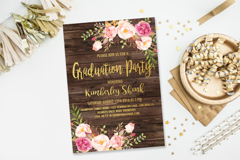 grad party invite | etsy, Party invitations