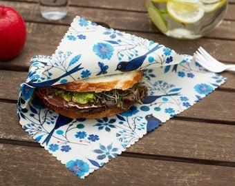 Medium 27cmx27cm | Beeswax Wrap | Wrap Sandwich, cheese, etc. | Reusable Eco Wrap