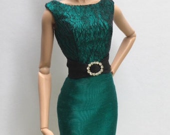Silk Cocktail Dress for Fashion Royalty Doll by Randall Craig RTW