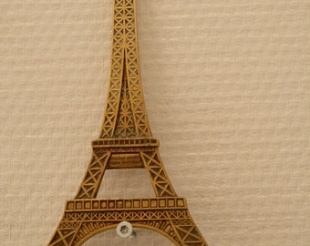 Rare made in France Brass Wall Decoration Paris Eiffel Tower