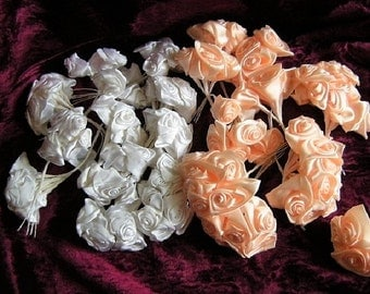 130 roses Dior rose satin roses White + Salmon