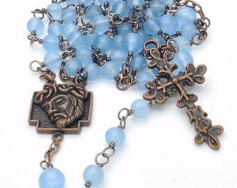 The Most Sacred Face Rosary / Holy Face Rosary / Ecce Homo Rosary / Handmade Rosary / Men's Rosary