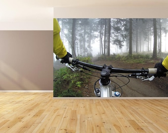 Wall Art Biking Trail Wallpaper HUGE