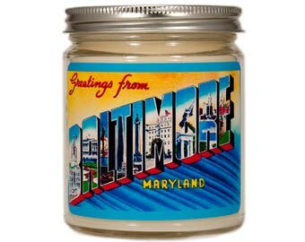 Baltimore Maryland Gift, Baltimore Maryland Candle, Baltimore Gift, Scented Candle, Container Candle, Soy Candle, Candle Gift