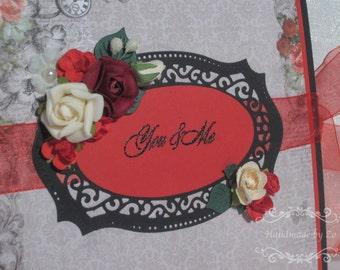 Wedding photo album Mini album Scrapbook Photo books Love scrapbook album You and me album Gift for her Wedding gift for couples