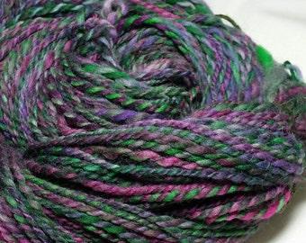 Boho Burst! 2-Ply Hand spun Hand dyed 100% Wool 12 wpi 190 yards DK - Worsted