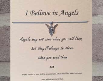 Angels Call ...    Tibetan Charm Wish Bracelet & Message Card   Handmade By Erin