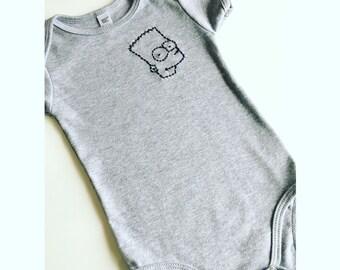 Bart Simpson 12-18 month onesie.