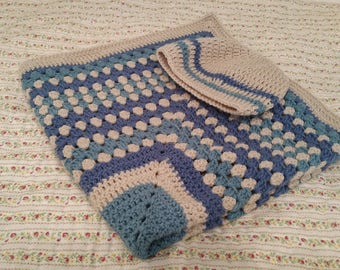 Beautiful crocheted baby blanket