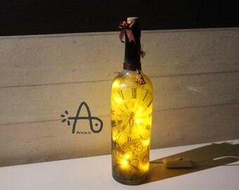 Botlleclock handmade lamp