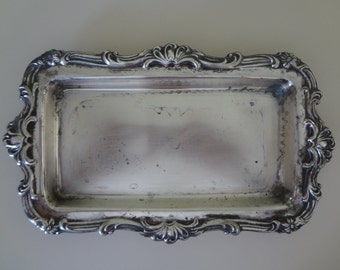 Silver Plated Tray Vintage Made In Canada