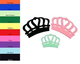 25 pack - Paper Crown Shapes, Paper Crowns Cut Out, Crown Die Cut, Party Supplies, Royal Party Shapes