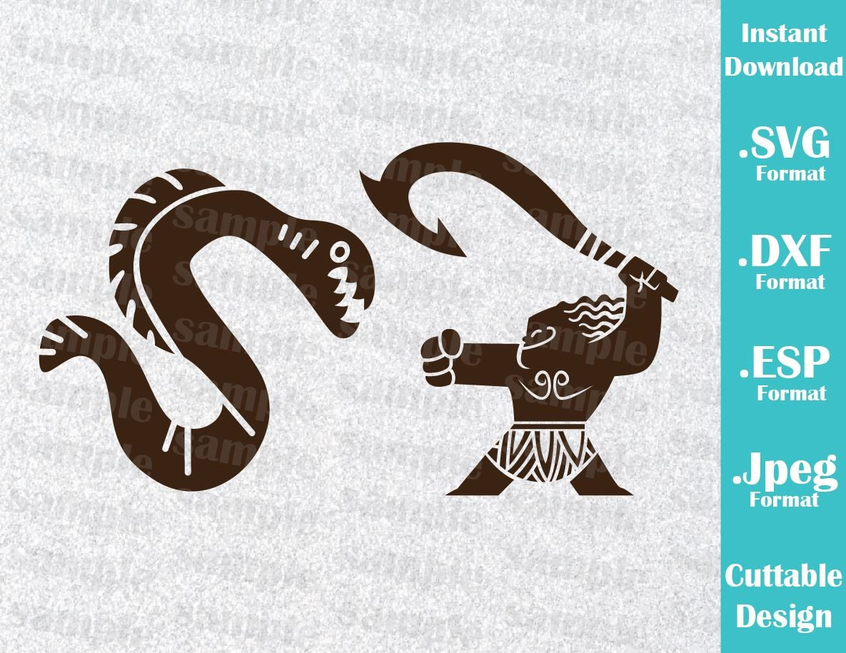 Instant download svg disney inspired maui moana movie for for Maui tattoo stencil