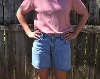 1990's Levi Denim Shorts, Blue Jean Shorts, VintageShorts, Retro Denim, Mom Shorts, Mid Thigh Shorts, Levi 550