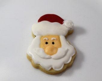 Santa Sugar Cookies - 1 Dozen