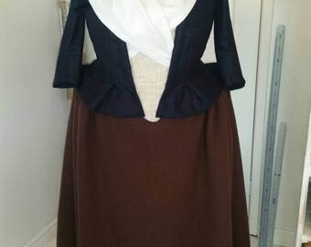 Custom Made Outlander Claire Fraser 18th Century Scottish Wool Dress