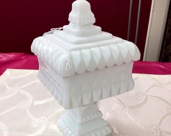 Vintage White Candy Dish
