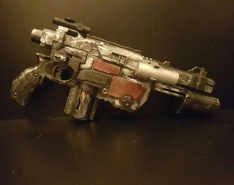 Baze Malbus. rogue one a Star Wars story.  Custom nerf blaster.