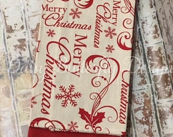 Christmas Kitchen Towels Personalized