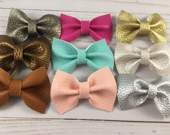 leather mini bow tie bow