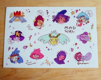 Mad Girl Sticker Sheet
