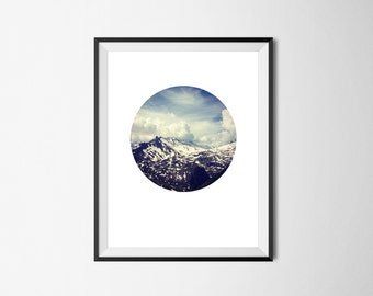 Photographic Mountain Print