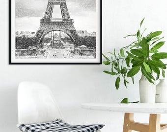 Eiffel Tower Sketch, Eiffel pencil art, Paris Sketches, Paris Wallart, Eiffel Towert Printable, Eiffel illustration, Paris Fine art