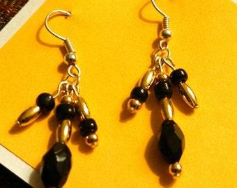 Golden Bee Dangly Earrings