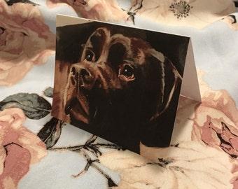 Birthday card / Blank inside / Original artwork card / Unique cool young artwork card / Dog artwork / Labrador Retriever greeting card